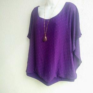 Torrid women's blouses color purple size 2x